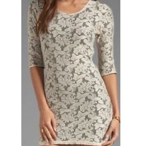 LOVERS+FRIENDS white lace sway bodycon dress